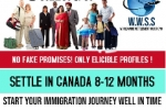 Get Permanent Residency for CANADA within 8 to 12 months.